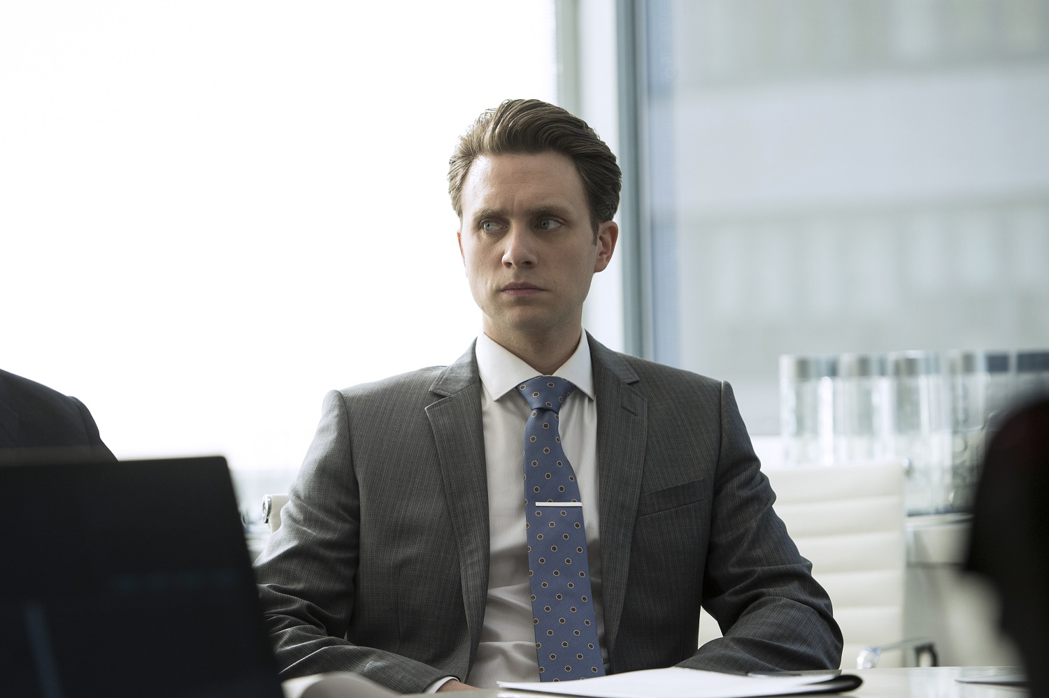"MR. ROBOT -- ""hellofriend.mov"" Episode 101 -- Pictured: Martin Wallstrom as Tyrell Wellick -- (Photo by: David Giesbrecht/USA Network)"
