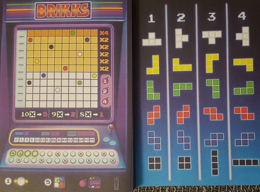 Brikks ist ein Würfelspiel von Schmidt Spiele und Wolfgang Warsch, das sich dem Tetrisspiel widmet.