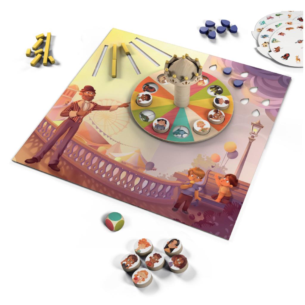 Der Spielplan von Monsieur Carrousel. Das Bild stammt direkt vom Hersteller.
