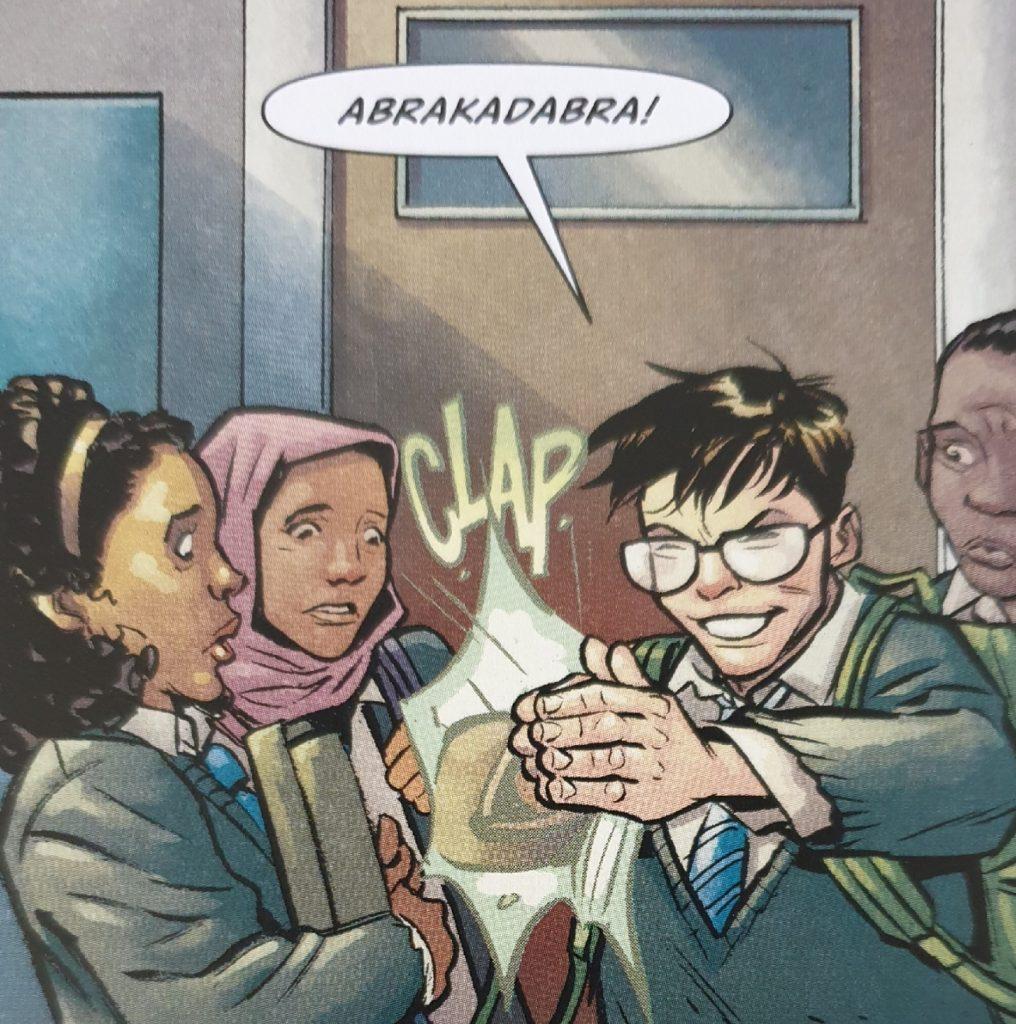 Ein Beispielbild aus dem Comic Die Bücher der Magie