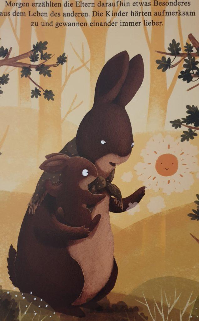 Ein Beispieltext aus dem Kinderbuch Freunde fürs Leben.