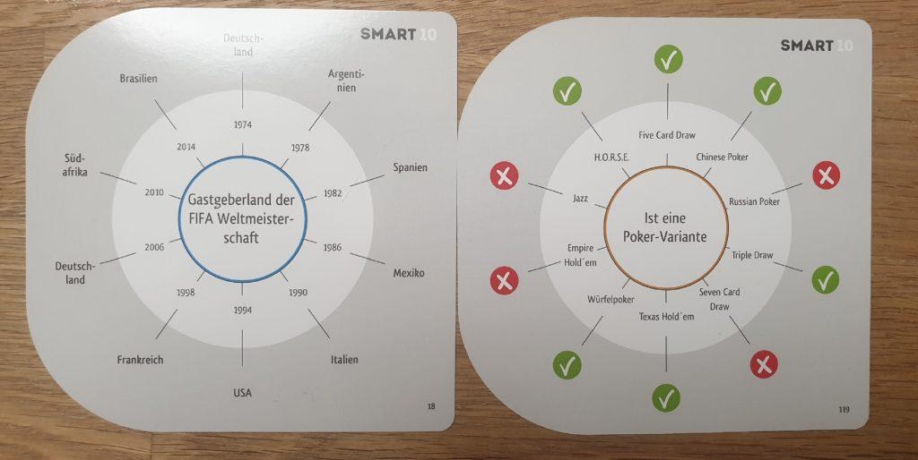 Zwei Beispielfragekarten