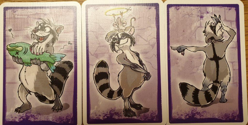 Die drei Handkarten von Tatort Tonne