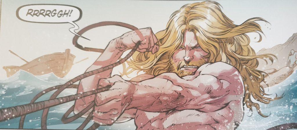 Eine Zeichnung aus dem neuen Aquaman Comic