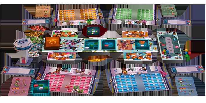 Der komplette Spielplan von Overbooked/ Foto von jumbo.eu