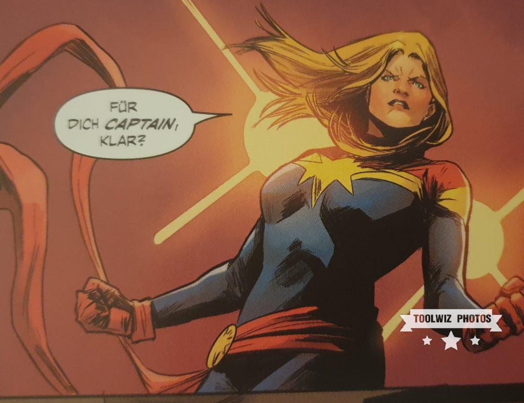 Ein Beispielbild aus Captain Marvel von Panini