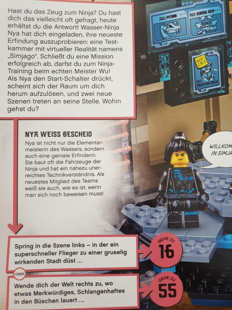 Eine Beispielseite aus Lego Ninjago -Rettet die Welt