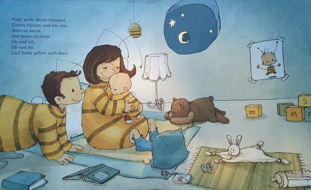 EIne Beispielsseite des Baby Hummel Bommel Buchs